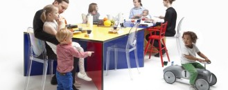 Colorful Modular Table for Fresh Dining Moments