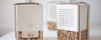Elegant Natural Speakers Displaying Porcelain and Wooden Elements [Video]