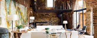 Exquisite Interior Design Within a 12th Century Oil Mill
