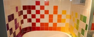 Rainbow Tiles for Vivid & Unconventional Bathrooms