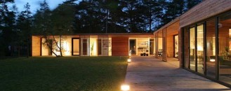 Sophisticated Single Storey Home Situated Among Pine Trees