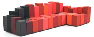 Playing with Heights and Colours: Do-Lo-Rez Sofa by Ron Arad