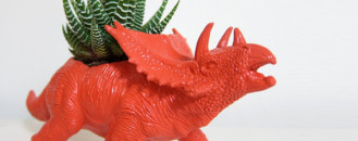 Awesome Dinosaur Planters in Vivid Colours from Plaid Pigeon