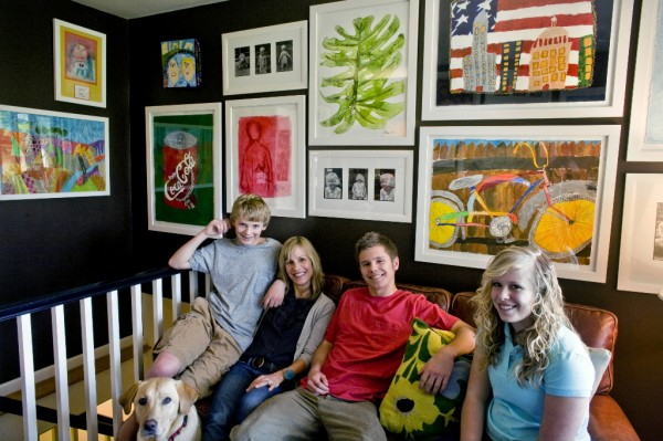Home Decor Brighter While Decorating With Your Kids Artwork Collect This Idea