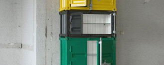 Industrial Pandora Cabinets in Vivid Colours