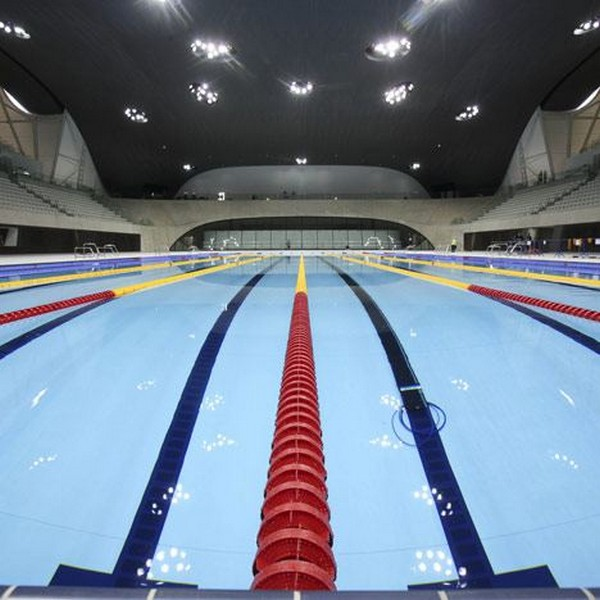 Olympic Swimming Pool In Person: London Aquatis Center Completed For The Olympic Games In