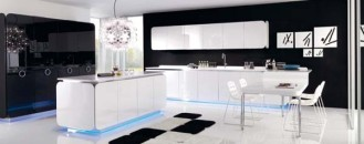 Curved and Balanced Modern Kitchen Design: IT-IS kitchen