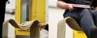 80 Meters of Rope Used to Design a Creative Chair by Jon Fraser