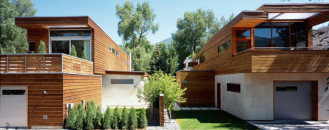 Mirroring Adjoined Houses in Aspen Displaying a Discreet Rivalry