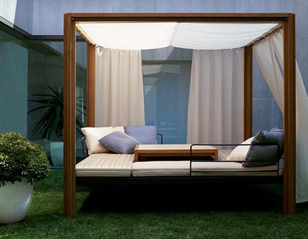 Collect this idea - 30 Outdoor Canopy Beds Ideas For A Romantic Summer Freshome.com