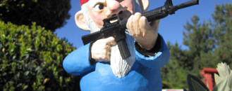 Interesting Combat Garden Gnomes for Your Garden