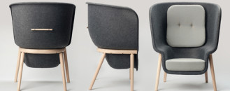 Sustainable PET Felt Chair: Pod by Benjamin Hubert [Video]