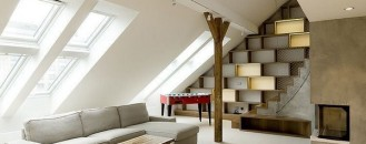 Duplex in Prague Defined by Elegance and Creativity: Rounded Loft
