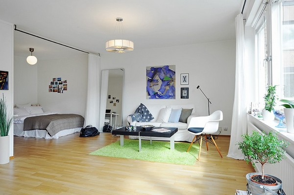 Inspiring All In One Room Apartment Stockholm