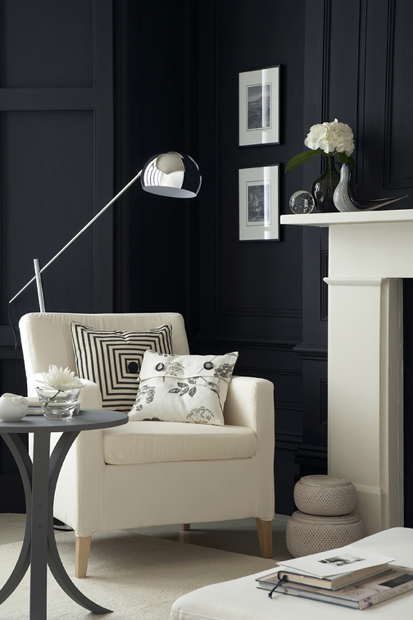 30 Exquisite Black Wall Interiors for a Modern Home ...