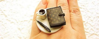 Unusual Jewelery: Coffee Ring Diary Ring by SouZouCreations