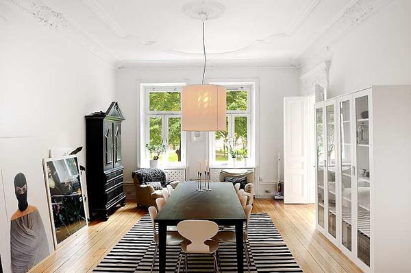 Large Bright Stockholm Apartment Displaying Fine Details ...