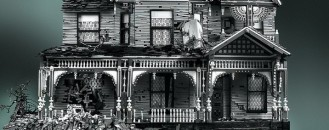 Decaying Victorian Houses Made of LEGO Pieces by Mike Doyle