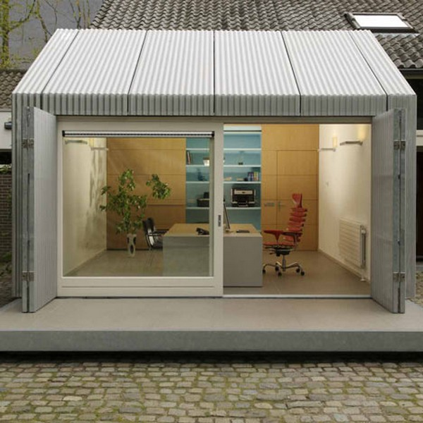 Garage Turned Into Delightful Small Office In Eindhoven Freshome Com