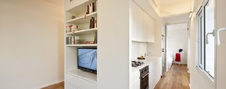 40 Square Meter Apartment in Tel-Aviv Displaying an Original Layout