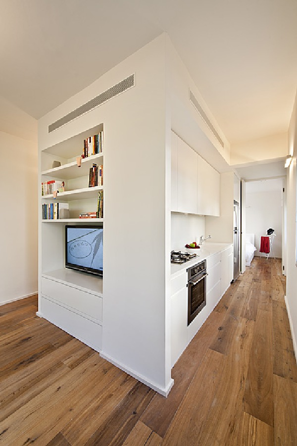 40 Square Meter Apartment In Tel Aviv Displaying An