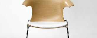 Sophisticated Chair With a Youthful Appearance: Loop 3D Wood