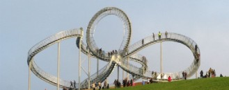 Tiger & Turtle Magic Mountain Sculpture in Germany Offering Extensive Rhine Views