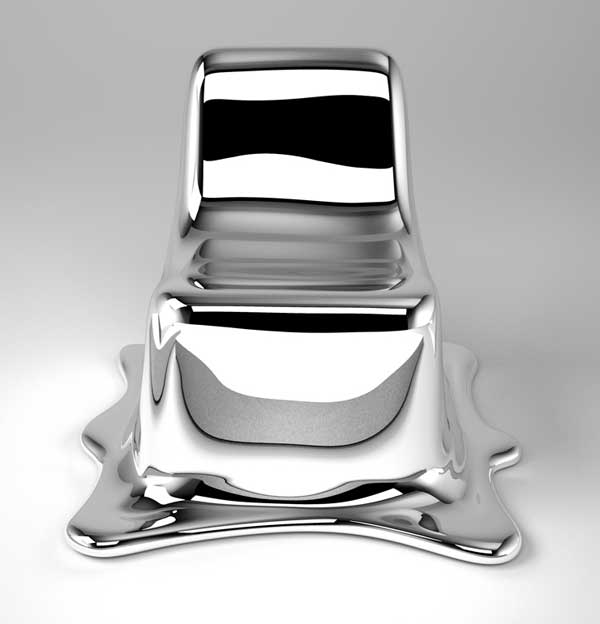 Limited Edition Melting Chair Mirroring Its Surroundings