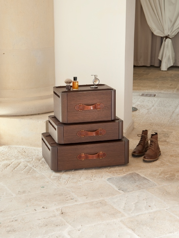 Emotion of Traveling In Your Home All Year-Long: Suitcase Drawers by Fabio Vinella