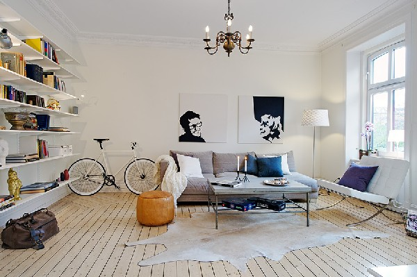 Inpiring Mix of Traditional and Modern in a Refreshing Scandinavian Flat