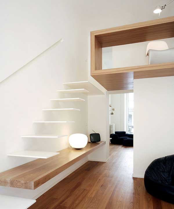Home Interior Design Juli 2011: Beautiful Wood Insertions In A Modern Home's Interior