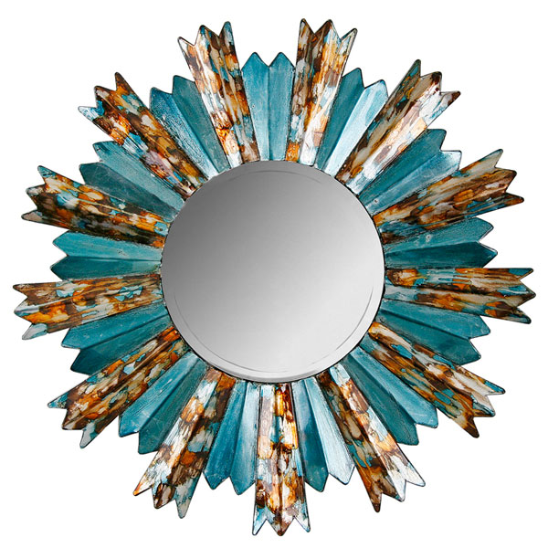 Springs Trend - Teal Sunburst Mirror from Housing Units