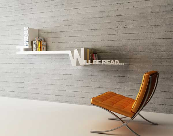 Typographic Organizing: Target Books Shelf by Mebrure Oral