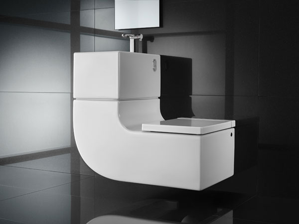 Eco-Friendly, Space-Saving Toilet & Washbasin Combo from Roca