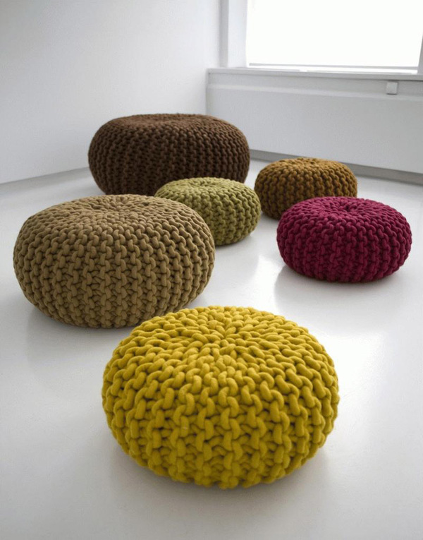 reKraft Trend - Urchin Poufs by Christien Meindertsma available at Thomas Eyck