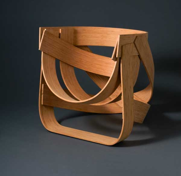 Solid and Flexible Bamboo Chair In Limited Edition