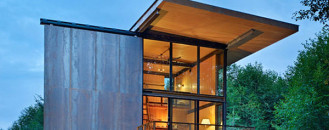 Picturesque Steel-Clad Fishing Cabin by Olson Kundig Architects