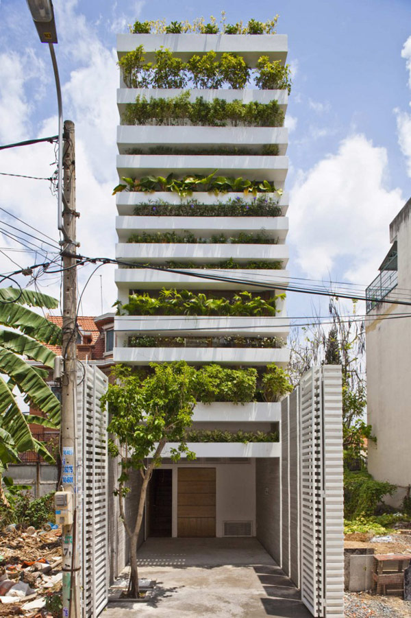 Originally- Designed Family Residence in Vietnam Displaying Green Facades