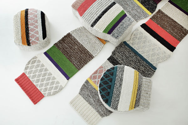 Mangas Rugs & Pouffs Designed by Patricia Urquiola for GAN Rugs