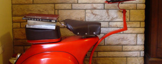 1968 Vespa Scooter Turned Into Functional Work Station