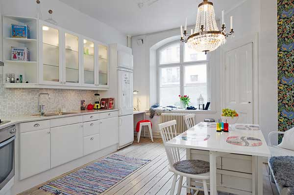 Use of Details In Interestingly-Shaped Swedish Apartment