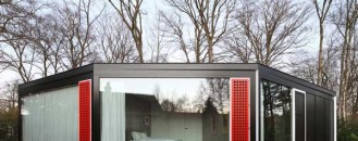 Multifaceted Concrete House in Belgium With 18 Windows