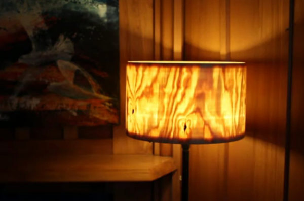 How To Create a Beautiful Lamp Shade From a Log [Video]