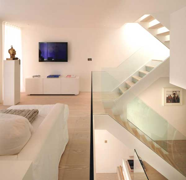 Pure White Highgate Apartment Split Into Half-Levels