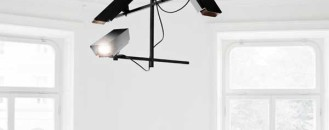 Limited Edition Powder-Coated Surveillance Chandelier