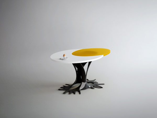 Cheerful Egg-Inspired Table With an Extravagant Look