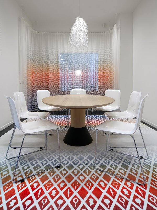 The Illusion of High Ceilings: Gradient Curtains and Carpet by Thomas Eurlings