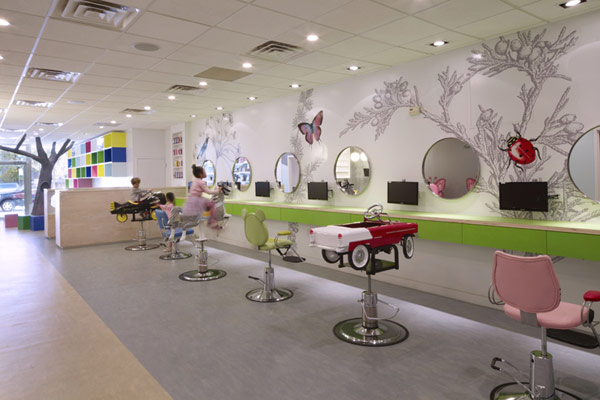 Colorful, Nature Inspired Hair Salon For Kids In New York