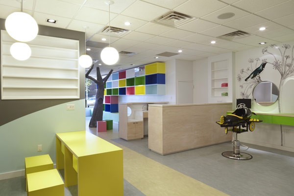 Colorful Nature Inspired Hair Salon For Kids In New York Freshome Com