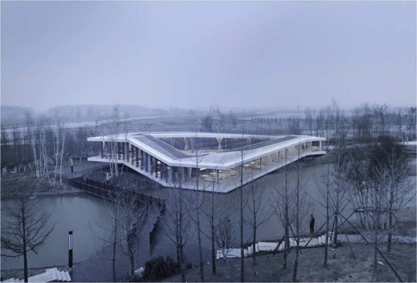 Unfolding Modern Clubhouse in China Surrounded by Nature